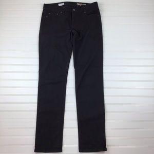 GAP Black Denim Real Straight Leg Jeans